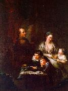 Anton  Graff The Artist's Family before the Portrait of Johann Georg Sulzer oil painting picture wholesale