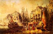 Eugene Isabey Arrival of the Duke of Alba at Rotterdam in 1567 oil painting picture wholesale