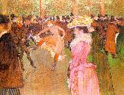 Henri  Toulouse-Lautrec Training of the New Girls by Valentin at the Moulin Rouge oil painting picture wholesale