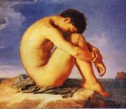 Hippolyte Flandrin Young Man Beside the Sea   1 oil painting picture wholesale