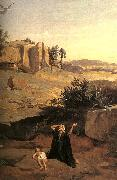 Jean Baptiste Camille  Corot Hagar in the Wilderness oil painting picture wholesale