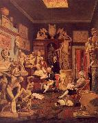 Johann Zoffany Charles Towneley's Library in Park Street oil painting picture wholesale