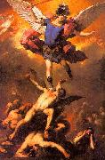 Luca  Giordano The Archangel Michael Flinging the Rebel Angels into the Abyss oil painting picture wholesale