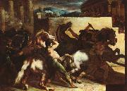 Theodore   Gericault The Race of the Barbary Horses oil painting picture wholesale
