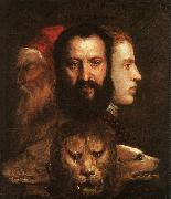 Titian Allegory of Time Governed by Prudence oil painting picture wholesale