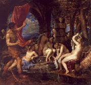 Titian Diana and Actaeon oil painting picture wholesale