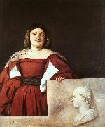 Titian Portrait of a Woman called La Schiavona oil painting picture wholesale