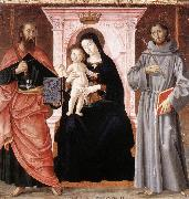 ANTONIAZZO ROMANO Madonna Enthroned with the Infant Christ and Saints jj oil painting artist