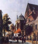 Adrianus Eversen A Dutch Market Scene 3 oil painting picture wholesale