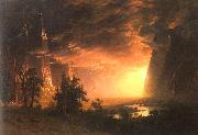 Albert Bierstadt Sunset in the Yosemite Valley oil painting picture wholesale