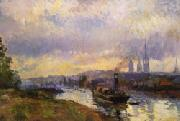Albert Lebourg Tug Boats at Rouen oil painting picture wholesale