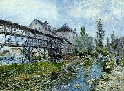 Alfred Sisley Provencher's Mill at Moret oil painting picture wholesale