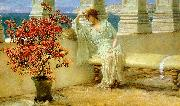 Alma Tadema Her Eyes are with Her Thoughts oil painting picture wholesale
