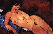Amedeo Modigliani Nude on a Blue Cushion oil painting artist