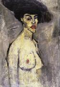 Amedeo Modigliani Nude with a Hat (recto) oil painting artist