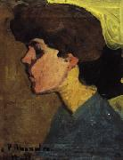 Amedeo Modigliani Head of a Woman in Profile oil painting artist
