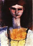 Amedeo Modigliani Bust of a Young Woman oil painting artist