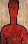 Amedeo Modigliani Large red Bust oil painting picture wholesale