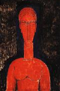 Amedeo Modigliani Red Bust oil painting picture wholesale