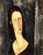 Amedeo Modigliani Blue Eyes ( Portrait of Madame Jeanne Hebuterne ) oil painting picture wholesale