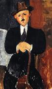 Amedeo Modigliani Seated man with a cane oil painting picture wholesale