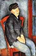 Amedeo Modigliani Young Seated Boy with Cap oil painting picture wholesale