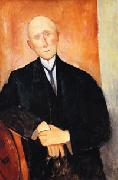 Amedeo Modigliani Seated man with orange background oil painting picture wholesale