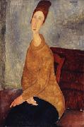 Amedeo Modigliani Jeanne Hebuterne with Yellow Sweater oil painting picture wholesale
