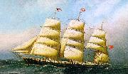 Antonio Jacobsen The British Ship Polynesian oil painting artist