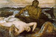 Arnold Bocklin Triton and Nereid oil painting picture wholesale