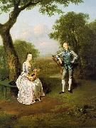 Arthur Devis Sir Nathaniel and Lady Caroline Curzon oil painting picture wholesale