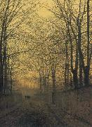 Atkinson Grimshaw October Gold oil painting picture wholesale