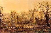 Atkinson Grimshaw Knostrop Hall, Early Morning oil painting picture wholesale