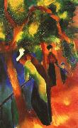August Macke Sunlight Walk oil painting picture wholesale