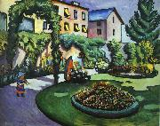 August Macke The Mackes' Garden at Bonn oil painting picture wholesale