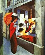 August Macke Hat Shop oil painting picture wholesale