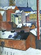 August Macke St.Mary's in the Snow oil painting picture wholesale