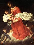 BAGLIONE, Giovanni The Virgin and the Child with Angels oil painting artist