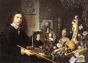 BAILLY, David Self-Portrait with Vanitas Symbols dddw oil painting artist