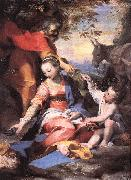 BAROCCI, Federico Fiori Rest on the Flight to Egypt sw oil painting artist