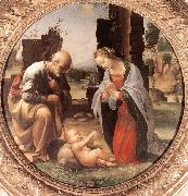 BARTOLOMEO, Fra The Adoration of the Christ Child nn oil painting artist