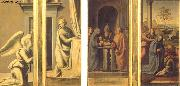 BARTOLOMEO, Fra The Annunciation (front), Circumcision and Nativity (back) oil painting artist