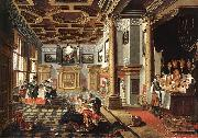 BASSEN, Bartholomeus van Renaissance Interior with Banqueters f oil painting artist