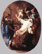 BATONI, Pompeo The Ecstasy of St Catherine of Siena oil painting artist