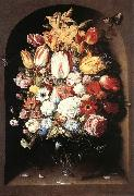 BEERT, Osias Bouquet in a Niche oil painting artist