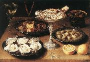 BEERT, Osias Still-Life with Oysters and Pastries oil painting artist