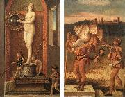 BELLINI, Giovanni Four Allegories: Prudence and Falsehood oil painting picture wholesale