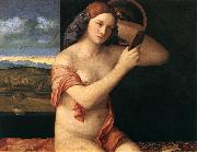 BELLINI, Giovanni Naked Young Woman in Front of the Mirror  dtdhg oil painting picture wholesale