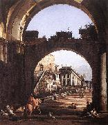BELLOTTO, Bernardo Capriccio of the Capitol oil painting artist