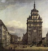 BELLOTTO, Bernardo The Kreuzkirche in Dresden oil painting picture wholesale